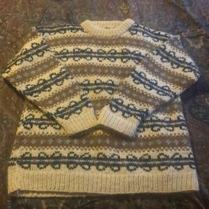 Bulky 100% wool hand knit sweater from Nepal.